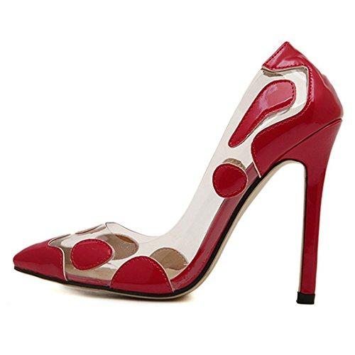 Oasap Femme Chaussure A Talons Hauts Pointu Talons Aiguilles Rouge
