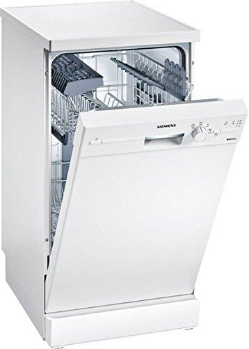 Siemens SR214W00CE Geschirrspüler Freistehend / A+ / 220 kWh/Jahr / 2380 L/jahr / Weiß / iQdrive / AquaStop