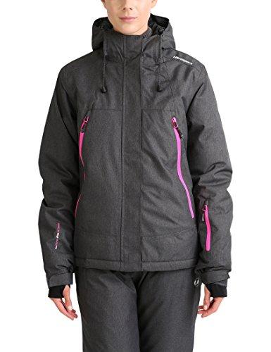 Ultrasport mel, giacca da sci outdoor donna, grigio scuro/rosa, s
