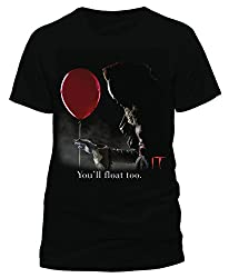 Stephen King's IT Offiziell lizenzierte Handelsware Pennywise Float Unisex T-Shirt Tee, Large