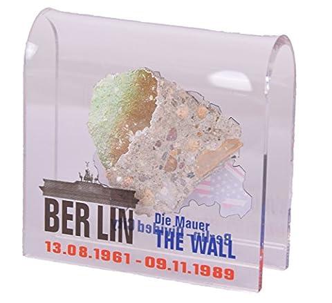 Original Piece of the Berlin Wall in Brandenburg Gate Motive