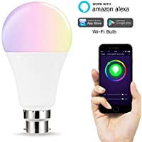 Lohas WiFi A65B22Smart Light bulbs, funziona con ALEXA e Google Home, lampadina riflettore 14W pari a 100W, RGB + bianco freddo, cromoterapia, controllabile tramite dispositivi Smart, no Hub required, 1pezzi