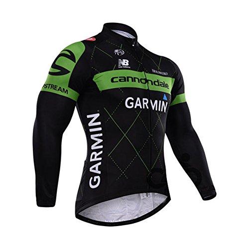Strgao 2016 Herren Radtrikot Top Langarm Pro Rennen Team Garmin Radjacke Radshirt Radfahren Oberteil (Mens Winter Jackets 3x)