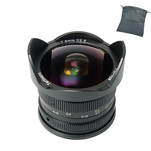 7artisans 7.5mm F2.8 APS-C Wide Angle Fisheye Manuelle Objective für Canon EOS M EF-M Mount Kameras Sowie Canon M1 M2 M3 M5 M6 M10 MEHRWEG