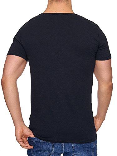 Tazzio Herren V-Kragen T-Shirt 17104 Schwarz