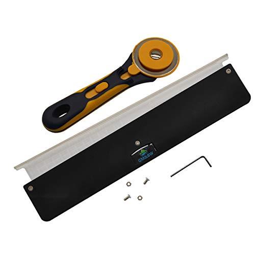 GM&BW Schleuder-Flachband-Schneideset-Bandschneidelineal und Rotationsschneider,Ideales Zubehör um Eine Professionelle Steinschleuder für Jagd oder Zielschießen Herzustellen-Irgendein Trapeze
