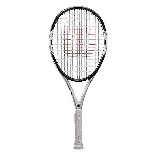 Wilson Federer PRO 105, WRT56610U2 Racchetta da Tennis per Giocatori Principianti e Amatoriali Unisex Adulto, Nero/Bianco, L2