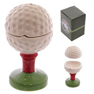 Golf-Tee und Ball ~ Eierbecher mit Salzstreuer-Aufsatz