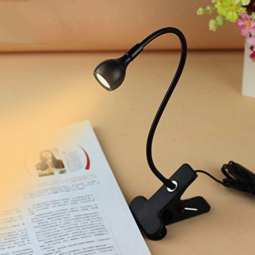 Rrimin USB Flexible Reading LED Light Clip-on Beside Bed Table...