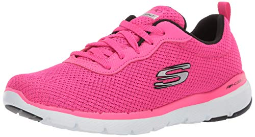 Skechers Flex Appeal 2.0-Newsmaker Black (38, Hot Pink/Black)