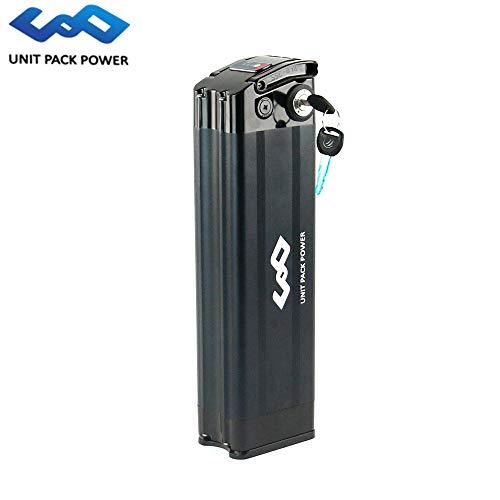 uppcycle Batteria E-Bike, 48V 10AH Batteria Fish Sliver + Safe Lock + Caricabatterie 2A, Adatta Bafang 48V 750W / 1000W Motore (Black, 48V 10AH)