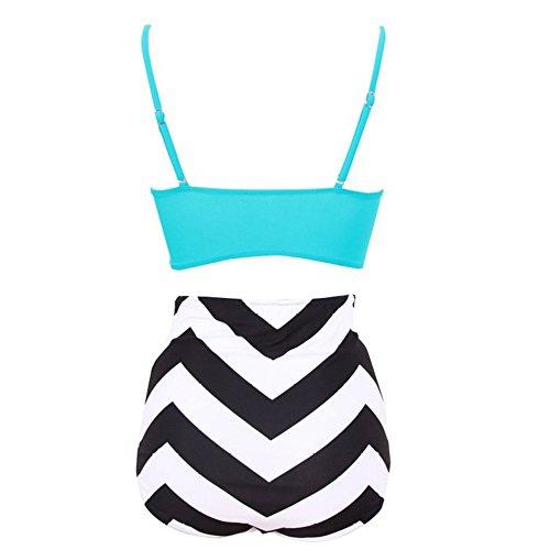 Sexy Bademode High Waist Badeshort Push-Up Badeanzug Big Size Cups Bikini mit hoher Taille Stil 3