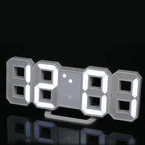 Decdeal - Multifuncional LED Reloj de Pared...
