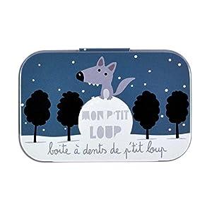 Derrière La Porte DLP : Boite à Dents de Lait - Mon P'tit Loup - en Métal pour Bébé Garçon