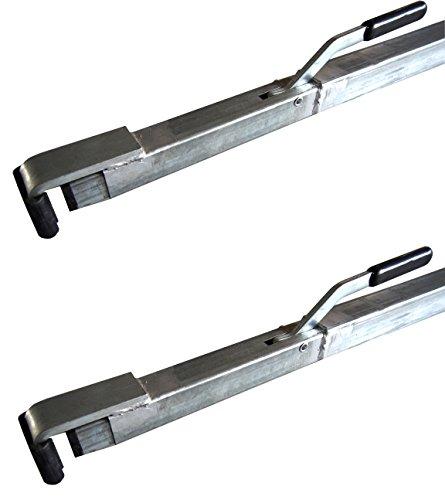 Preisvergleich Produktbild 2 x Spannbrett, 1,92-2,72 m Zwischenwandverschluss Klemmbalken