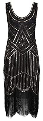 Ro Rox Great Gatsby 1920's Cocktail Party Sequin Tassel Flapper Dress