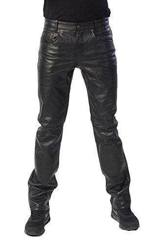 Bohmberg - Pantalones de Cuero-se Ajusta como un par de Jeans-Muy Bueno,...