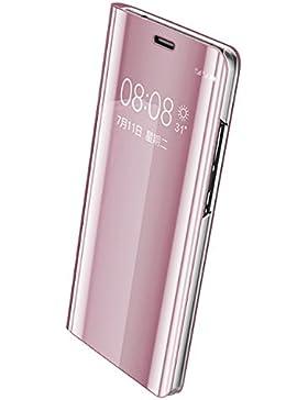 JEPER Funda Huawei Mate 9 Espejo PC Carcasa Flip 360° Protectora Ultra Delgado Choque Absorción Anti-Arañazos...