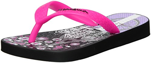 Ipanema Classic V Kids, Tongs Fille Mehrfarbig (Black/pink)