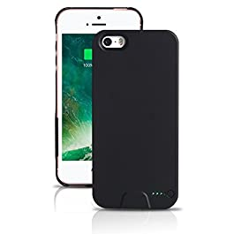 For iPhone 5/5S/5SE- Protective and Ultra Slim Rechargeable Battery Case -Stacking Power