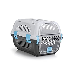 Beeztees Transport Box Rhino, 51 x 34.5 x 33 cm, Grey/Pink_P Beeztees Transport Box Rhino, 51 x 34.5 x 33 cm, Grey/Pink_P 41idG7W786L