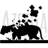Azeeda Gro/ß A2 Gl/ücklicher L/öwe Wandschablone Vorlage WS00017320