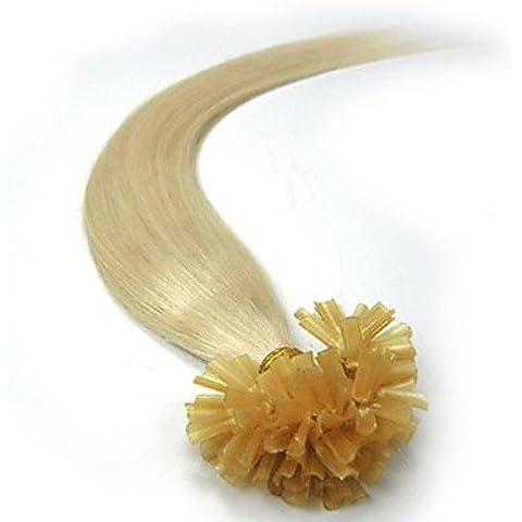 OOFAY JF® remy naturale fusione della cheratina brasiliano legame pre estensioni dei capelli umani vergini dritto u di punta di 100 fili , 22 inch - Legami Anima