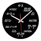 XIAOMEI Mathe-wanduhr Einzigartige Mathematische Gleichung Lustig Wanduhr Für klassenzimmer Home Office Moderne Dekoration-A 30 * 30cm(12x12inch)