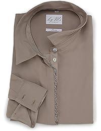 byMi Hamburg chemisier et chemise d affaires pour femmes Nut Fudge   taupe    à la mode et élégant   blouse à manches… 70090548496