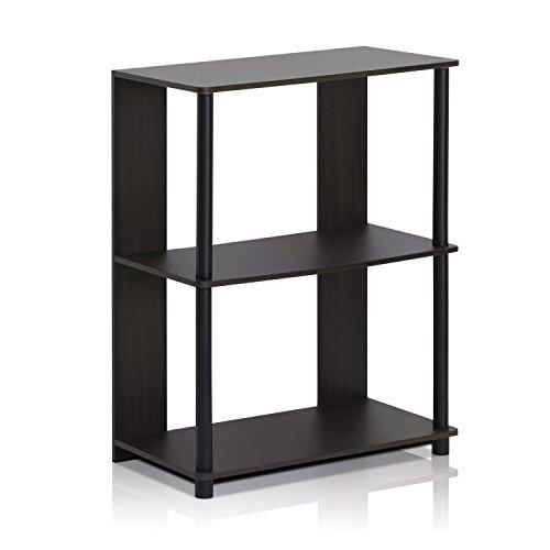 Furinno Laptoptisch 15070WNBK 1Jaya schlichtes Design Bücherregal, Walnussholz (Aufbewahrung Cube Kommode)
