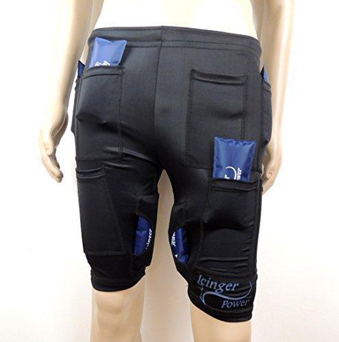 Icinger Power Kühlende Shorts zur Fett-Verbrennung durch Kälte - Eis-Packs inbegriffen - Size S