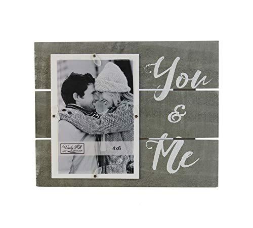 Windy Hill Collection 694000 Fotorahmen für Wand oder Tisch aus Echtholzlatten You & Me -