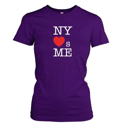 TEXLAB - NY loves Me - Damen T-Shirt Violett