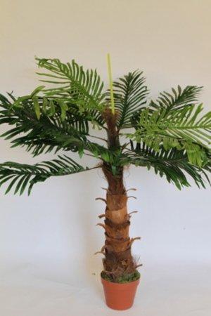 Künstliche Pflanzen - 1 m hoch, Künstliche Kokospalme mit Topf