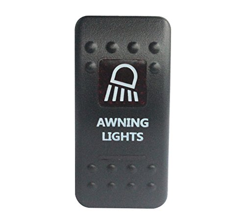 bandc Vorzelt Lichter Rocker Toggle Switch On/Off SPST rot LED 5 Pins für Narva ARB Carling Stil Ersatz Wasserdicht IP66 Auto Boot 12 V/24 V