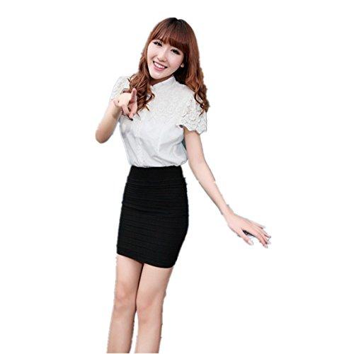 Vovotrade ❤❤Heiß !!!1PC Art- und Weisefrauen elastischer gefalteter hoher TaillenPaket hüfter kurzer Rock (Woman Kleid Pretty Kostüm Roten)