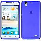 TBOC® Funda de Gel TPU Azul para Huawei Ascend G630 de Silicona Ultrafina y Flexible
