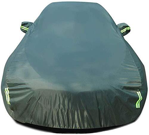 WYZXR Autoabdeckung, kompatibel mit BMW 3er Touring Autoabdeckung, wasserdicht, staubdicht, Sonnenschutz, Autotuch, atmungsaktiv, reißfest, wetterfest, mit fluoreszierendem Streifen Army Grün
