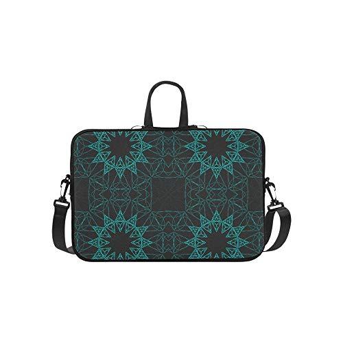 Laptop Umhängetasche Umhängetasche Tasche Notebook Griff Ärmel Neopren Soft Carring Tablet Reisetasche, Ethnische Mandala Ornament Raster Henna Tattoo Laptop Handtaschen 14