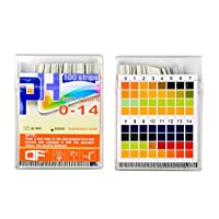Yolito PH Test Paper Strips for Acidic Alkaline Test Drinking Water,Cosmetic,Fruit,Body PH Test,Clear to Read and Accurate-Wide Range PH 0~14 (200pcs)