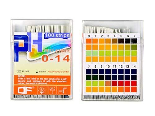Yolito PH Wert Teststreifen für Saures Alkalisches Test-Trinkwasser, Körper-PH-Test, Klar zu Lesen und Genau, Breite Strecke PH 0~14 (200pcs)