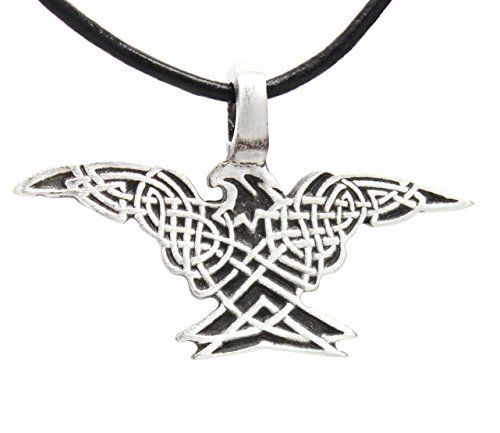 Trilogy Jewelry Pewter Eagle with Celtic Knots Pendant on Leather Necklace