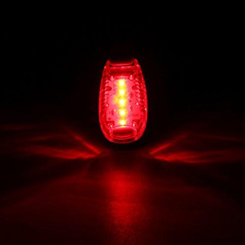 LaDicha Bikight Vélo Queue Arrière Casque Lampe De Poche Abs 3 Modes Vélo De Sécurité Lampe D'Avertissement 5 LED-Rouge