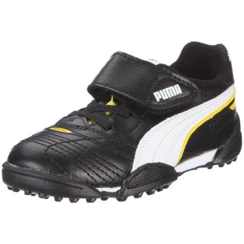 Puma Esito Finale TT V Inf 102021 Unisex - Kinder Sportschuhe - Fußball Schwarz/Black-White-Fluo Yellow