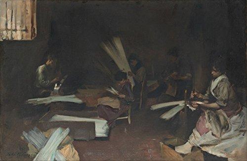 Das Museum Outlet–John Singer Sargent–venezianischen Glas Arbeitnehmer–Leinwanddruck Online kaufen (76,2x ()