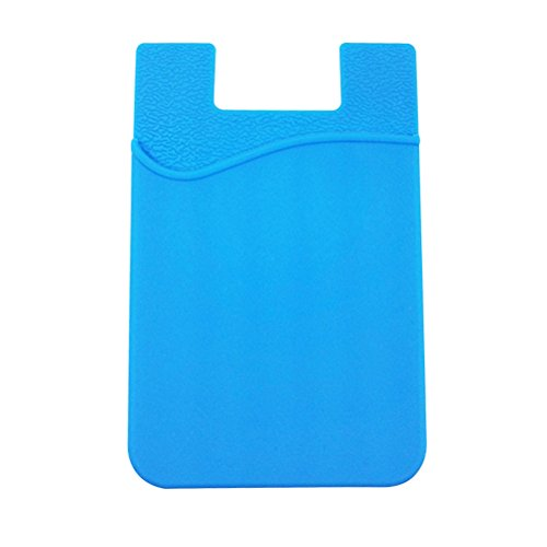 UKCOCO Selbstklebende Brieftasche (Hellblau) (Kartenhalter Klebstoff Telefon)