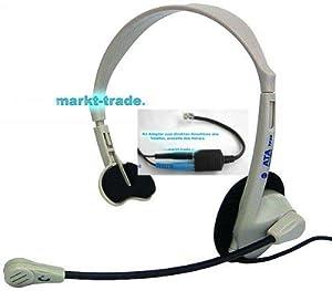 telefon headset f r callcenter mit western adapter rj14. Black Bedroom Furniture Sets. Home Design Ideas