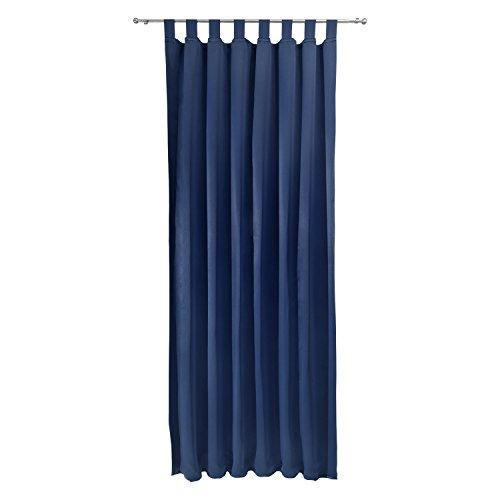 Beautissu tenda oscurante con passanti serie amelie bs - 140x245 cm blu - protegge dal sole - per balconi e finestre
