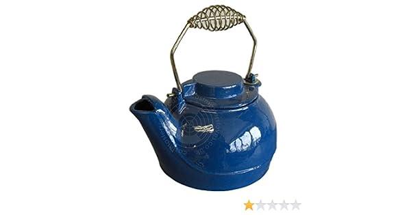 Functional Enamel Cast Iron Kettle Humidifier Tea Pot White