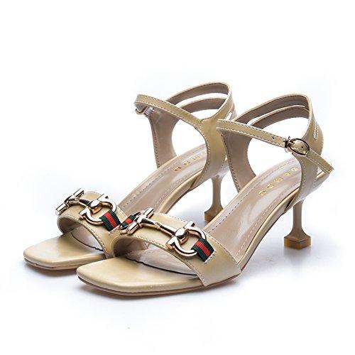 Sommerwein mit sandalen/Gut mit dem zehenwort schnalle high heels B